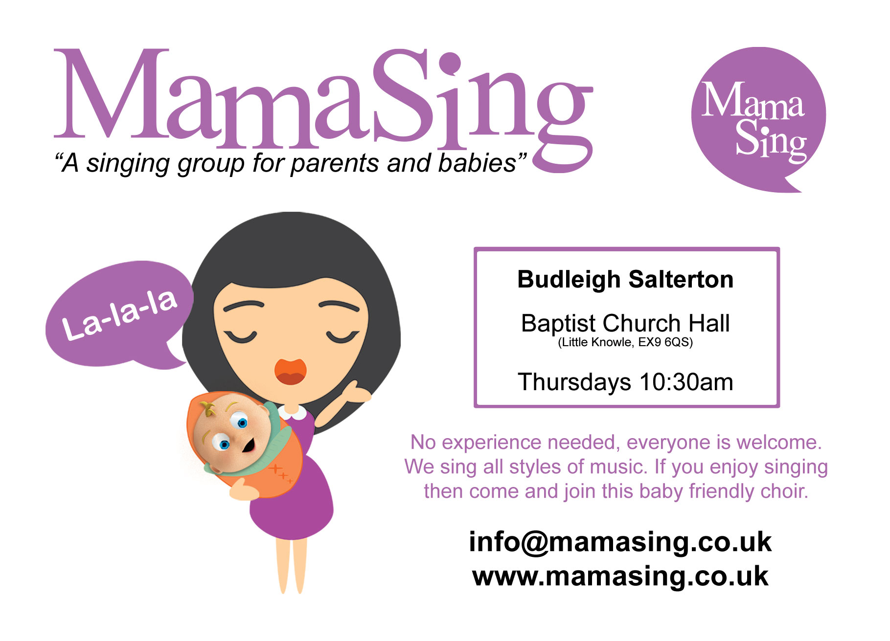 MamaSing-Budleigh-A6-webflyer